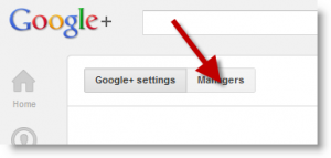 Google+ Plus Page Settings Managers