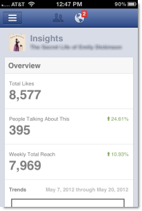 Facebooks Pages App Insights Dashboard