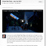 Google+ Virtual Star Party Invite