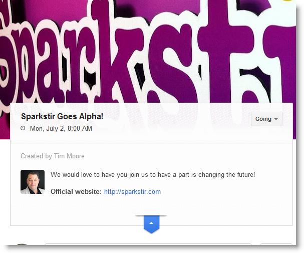 Sparkstir Google+ Invite