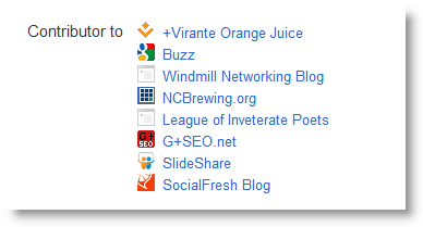 Google+ Profile Links Contributor to Section