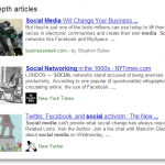Google In Depth Articles Search Results for Social Media