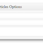 In Depth Articles Generator options box