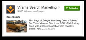 Google search result for Virante