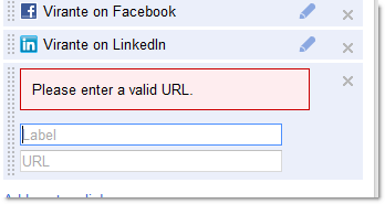 Editing Google+ Profile link box