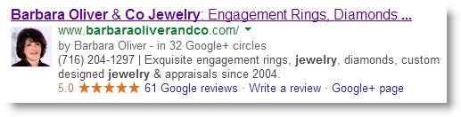 Google local result authorship