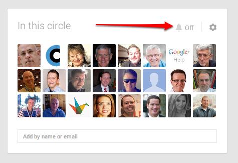 Google Plus circle view settings