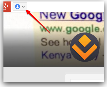 Google Plus page menu