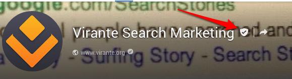 Google Plus Page Verification mark