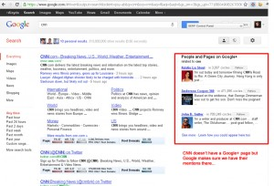 CNN Google Plus Search