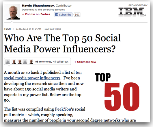forbes top 50 social media influencers