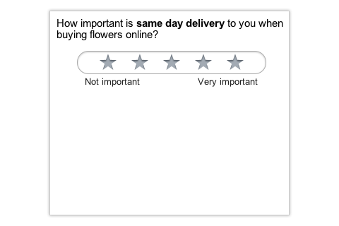 Google Consumer Survey Question Example