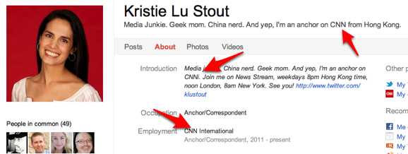 Kristie Lu Stout CNN Google+ Profile