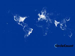 Google Plus world map