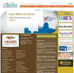 Raleigh, NC Chamber of Commerce screenshot