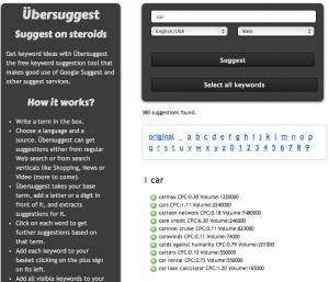 UberGrep adding data to UberSuggest