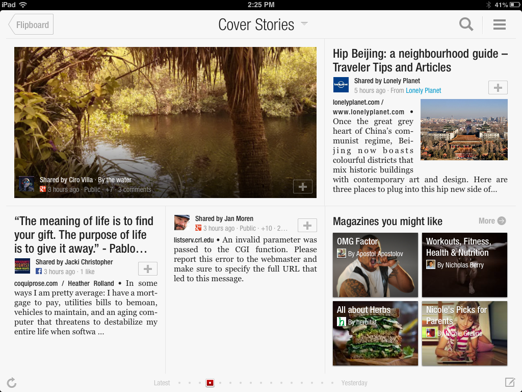 Flipboard iPad page example