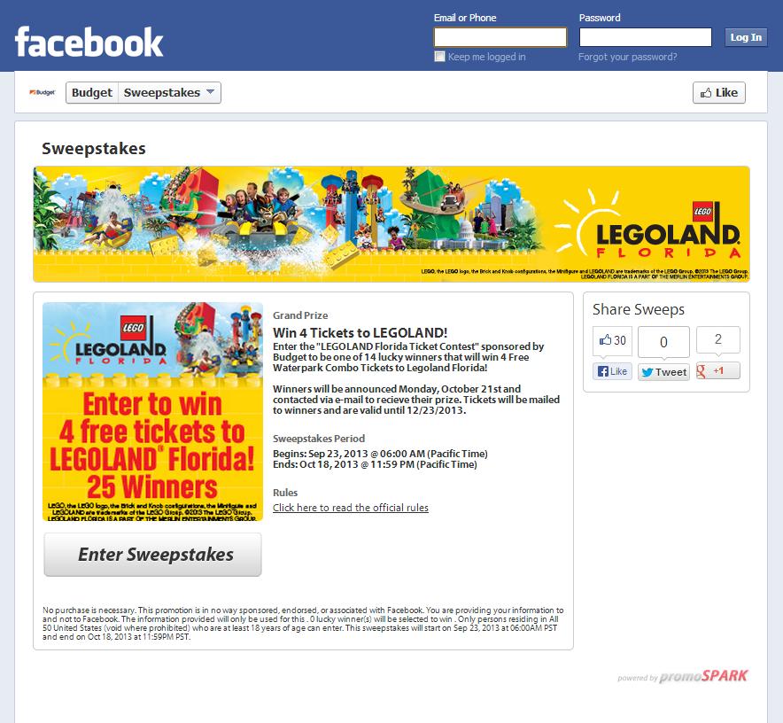 Budget Facebook Contest full version