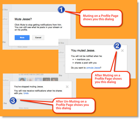 Muting a Google Plus Profile's Notifications