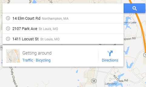 New Google Maps Search Box