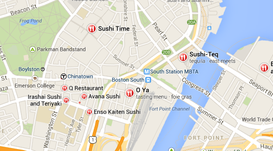 New Google Maps Local Results